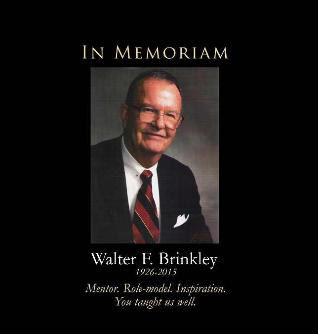 A Tribute to Walter F. Brinkley